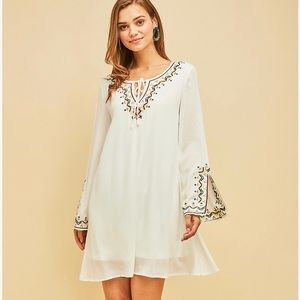 Beautiful off white embroidered Dress!